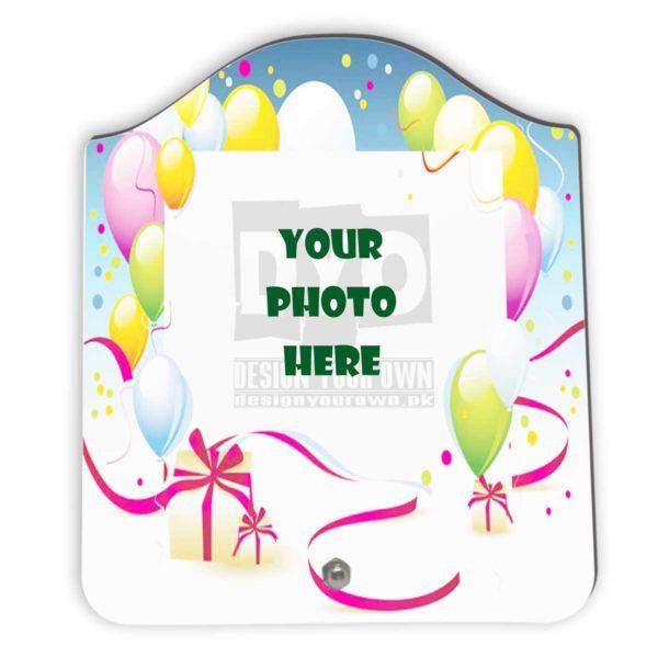 Happy Birthday Gift Custom Wooden Sheet Photo Frame (FR-02-HBD-03)
