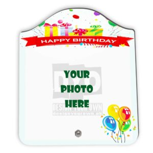 Happy Birthday Gift Custom Wooden Sheet Photo Frame (FR-02-HBD-06)