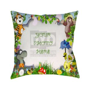 Design Your Own Jungle Gift for Kids Cushion