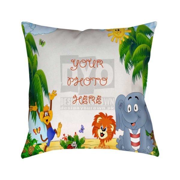 Design Your Own Happy Animals Gift For Kids Cushion