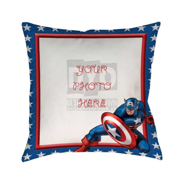 Design Your Own Captain America Gift For Kids Cushion