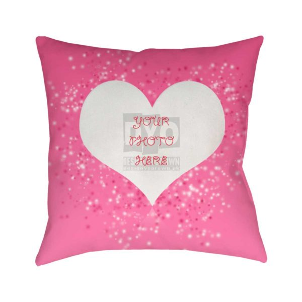 Heart Cushion With Custom Design Valentine Gift Cushion