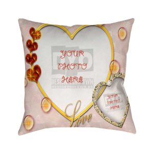 Love Theme Custom Cushion for Valentine Day