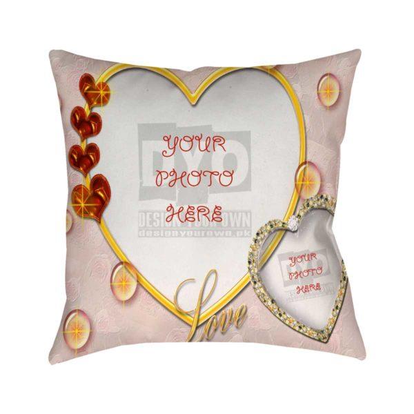 Love Theme Custom Cushion for Valentine Day
