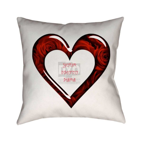 Red Roses Heart Custom Cushion For Your Valentine