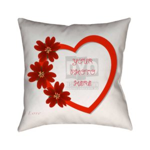 Custom Love Theme Cushion for Valentine's Day