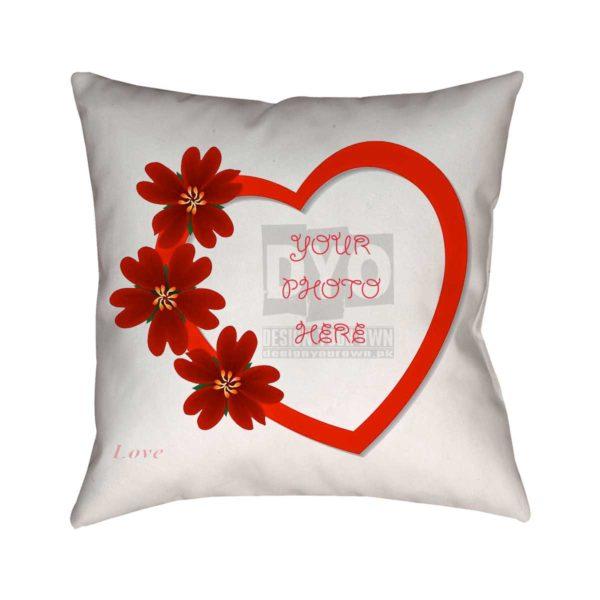 Custom Love Theme Cushion for Valentine's Day