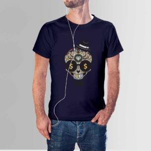 Wealthy Mind T Shirt Navy Blue