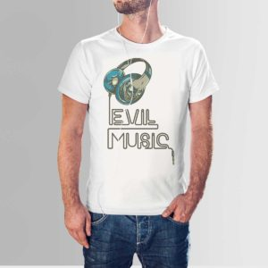 Evil Music T Shirt White