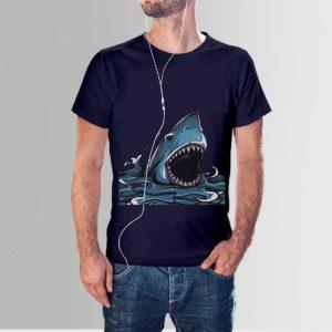 Blue Whale T Shirt Navy Blue