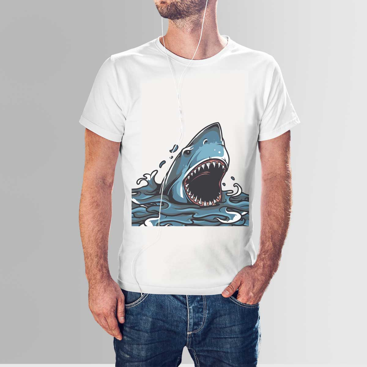 Blue whale t shirt design your own for Whale emblem on shirt