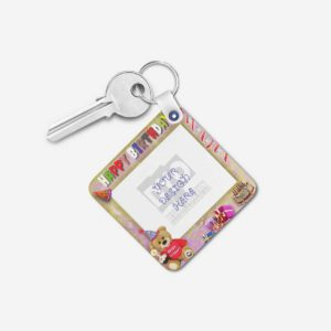 Happy Birthday Gift Personalized Wooden Key chain