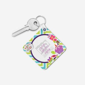 Happy Birthday Gift Personalized Wooden Key chain (KC-MDF-HBD-03)