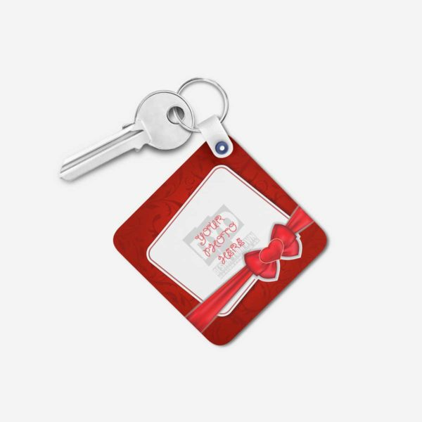 Valentines Day Gift Personalized Wooden Key Chain (KC-MDF-VAL-01)