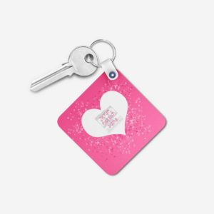 Valentines Day Gift Personalized Wooden Key Chain (KC-MDF-VAL-02)