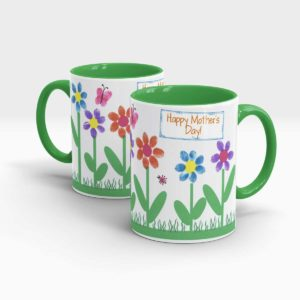 Mother Day Gift Mug Green