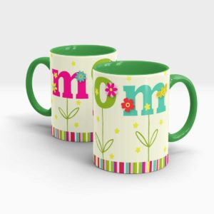 Mothers Day Gift Mug Green