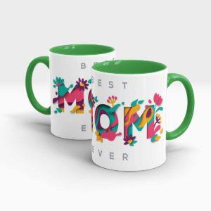 Mothers Day Gift Mug Green