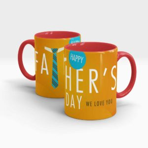 Fathers Day Gift Mug-Red