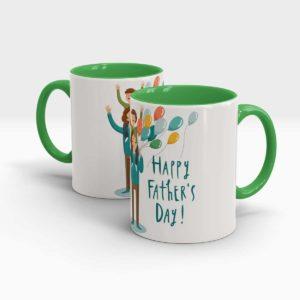 Fathers Day Gift Mug-Green