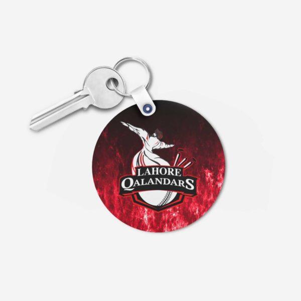 PSL 3 Lahore Qalandars Key Chain Round