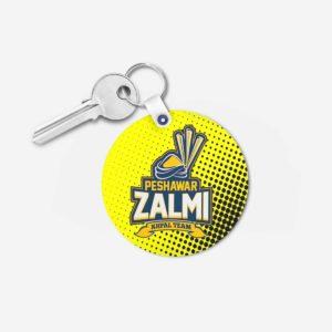 PSL 3 Peshawar Zalmi Key Chain Round