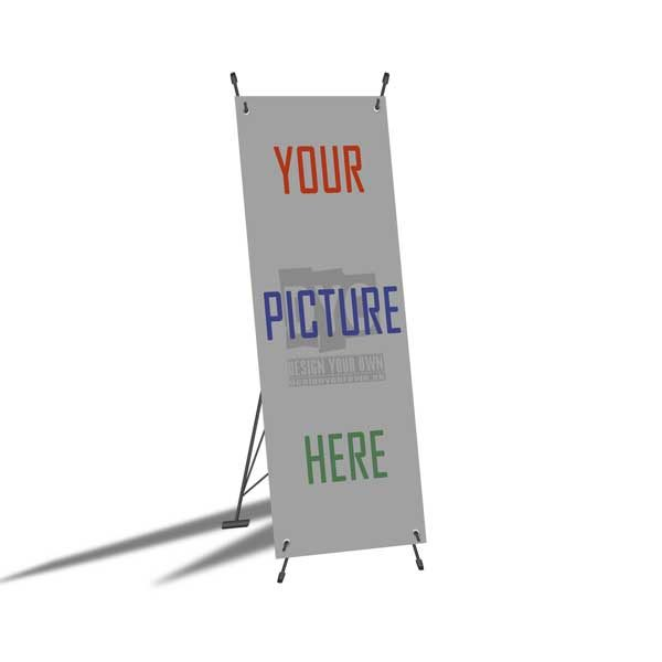 Design Your Own Printed Plastic Sheet X Stand