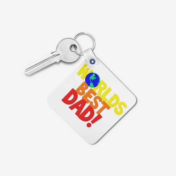 Worlds Best Dad Gift Keychain