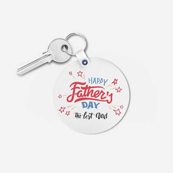 The Best Dad - Father's Day Gift keychain - Round