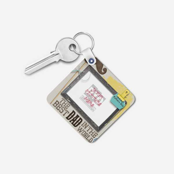 The Best Dad In The World Custom Gift Keychain