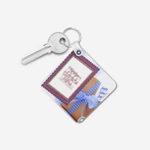 Design Your Own Happy Father's Day Customized Gift Keychain