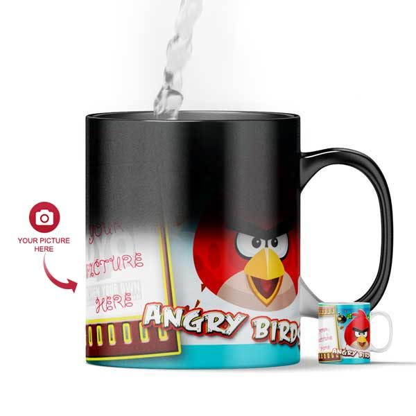 Design Your Own Angry Birds Magic Color Changing Mug For Kids
