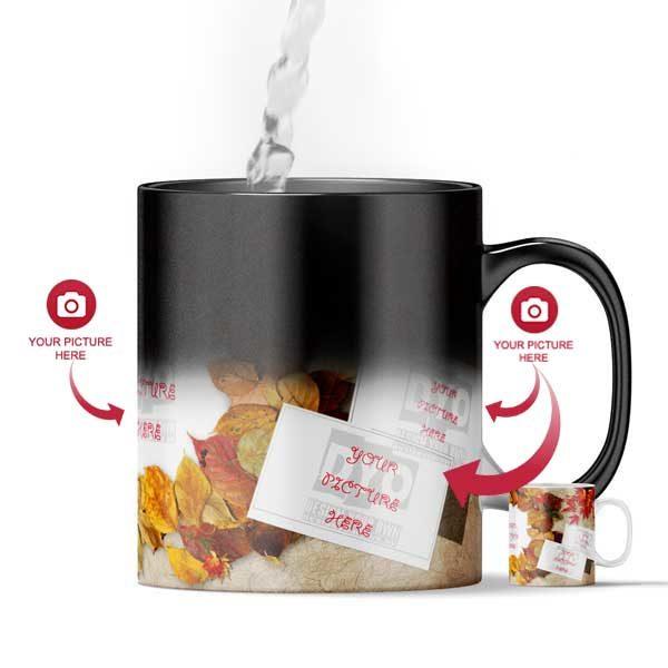 Design Your Own Autumn Leaves Custom Magic Color Changing Mug