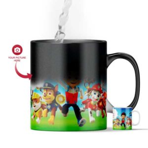Design Your Own Paw Petrol Customized Magic Color Changing Mug For Kids