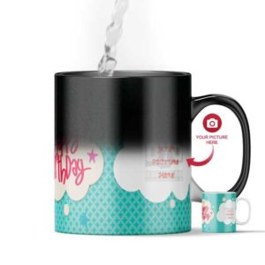 Design Your Own Happy Birthday Customized Magic Color Changing Mug