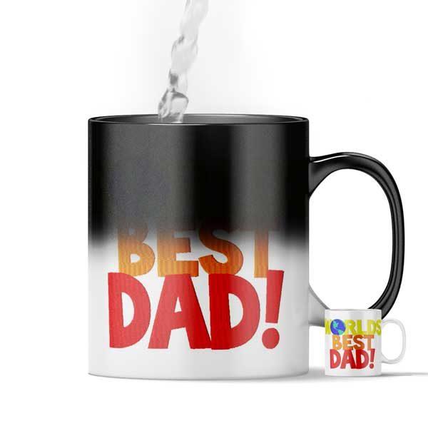 World's Best Dad Magic Custom Printed Gift Mug