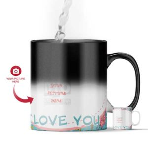 I Love You Customized Magic Color Changing Mug