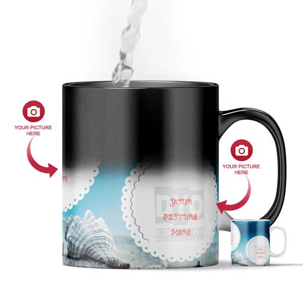 Design Your Own Ocean Life Customized Magic Color Changing Mug