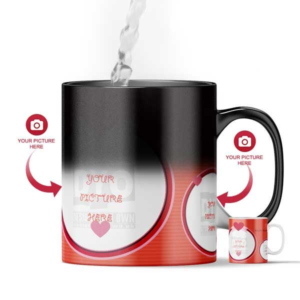 Design Your Own Valentine's Day Magic Color Changing Gift Mug