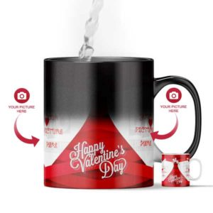 Design Your Own Happy Valentine's Day Customized Magic Color Changing Gift Mug
