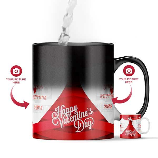 image about Design Your Day called Satisfied Valentines Working day Personalized Magic Shade Switching Present Mug