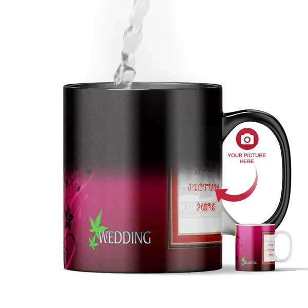 Design Your Own Wedding Day Gift Personalized Magic Color Changing Mug