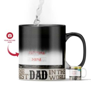 Design Your Own The Best Dad In The World Magic Color Changing Gift Mug