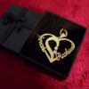 Personalized name Gold/Silver plated heart necklace