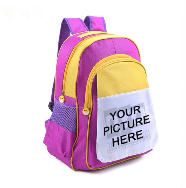 Design Your Own Custom Printed Picture School Bag with Picture