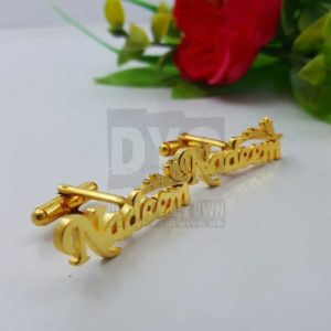 dyo-Design Your Own Personalized Name Cufflinks-gold