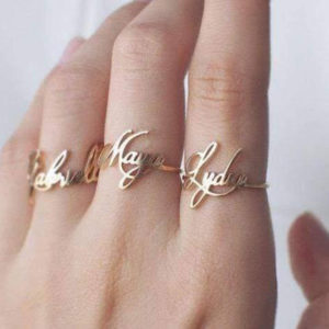 Personalized Ladies Name Ring