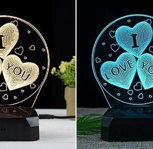 I Love You Gift Lamp