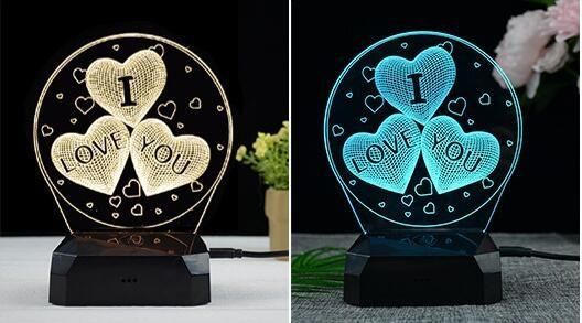 I Love You Gift Lamp