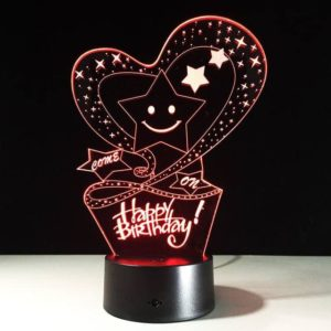 Happy Birthday Personalized Lamp
